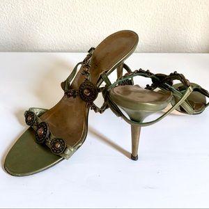 Manolo Blahnik Vintage Metalwork Sandals RARE